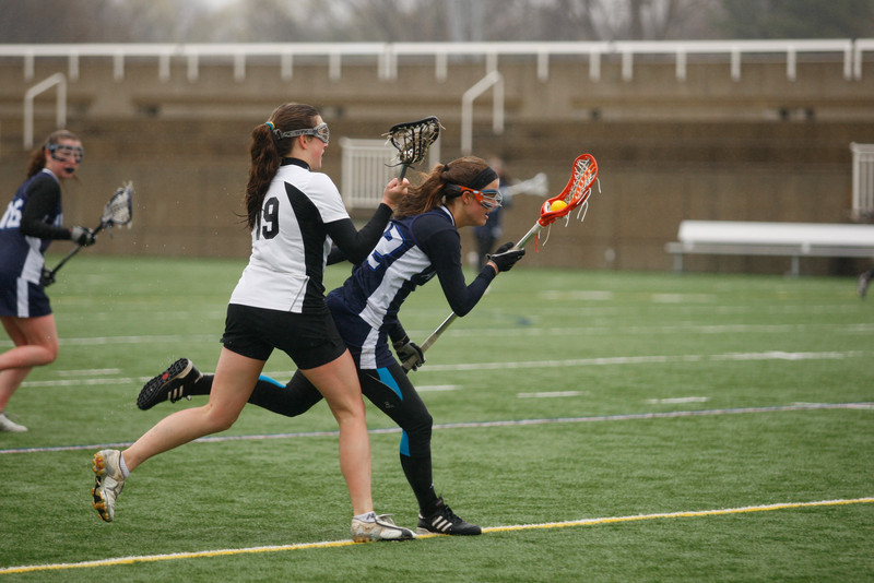 Girls Varsity Lacrosse competes against Groton School on 4/23/11. Andover lost 10-13. (J. Qu)