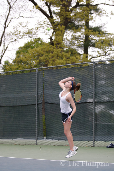 Varsity Girls Tennis competed against Loomis Chaffe School on May 14, 2011. (J. Qu/The Phillipian)