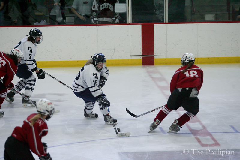 Andover competes against Phillips Exeter Academy on 2/26/11. Andover lost 0-2. (J. Qu)