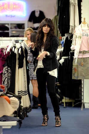EXCLUSIVE-  High School Musical Star Vanessa Hudgens goes last week in Fred Segal with younger sister Stella. Santa Monica California on November 2008.