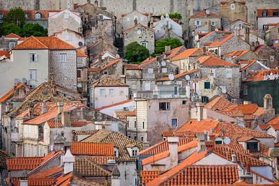 Rooftops of Old Town Dubrovnik, Croatia
