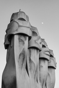 La Pedrera Chimneys, Barcelona, Spain