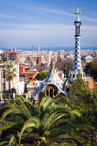 Barcelona View from Park Guell, Spain