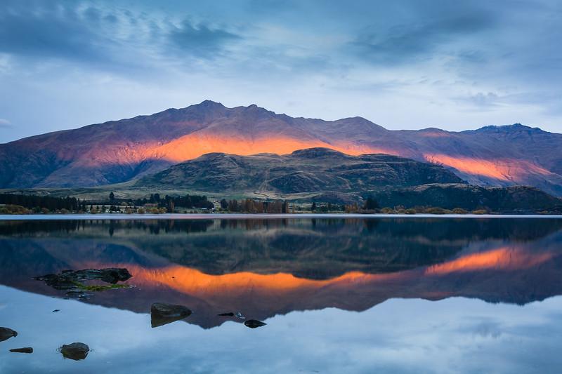 Sunset at West Wanaka, New Zealand