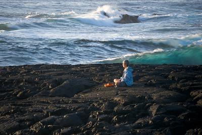 Meditation at Punalu'u