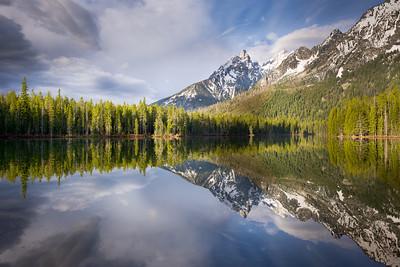 Teewinot Peak and String Lake, Wyoming