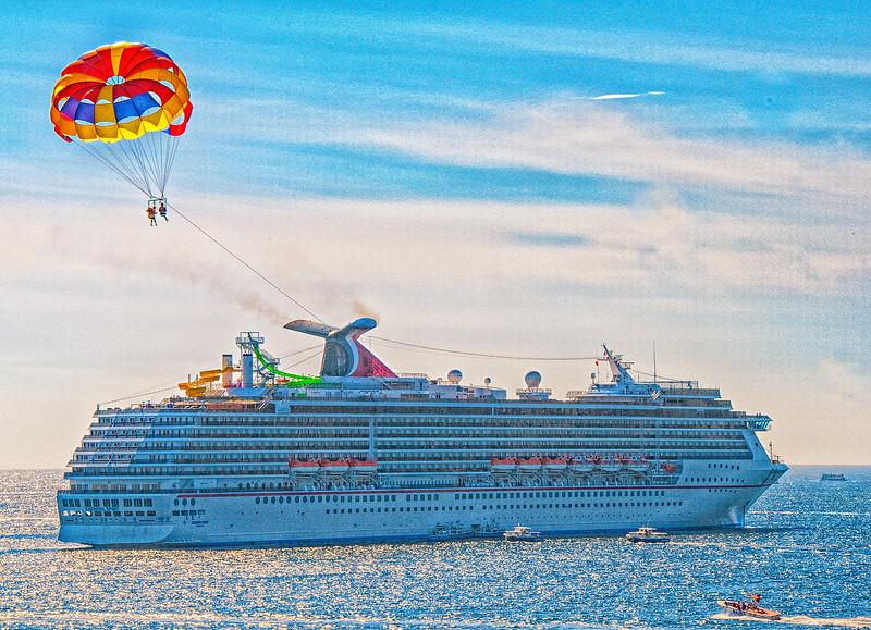 Cruise ship arrival