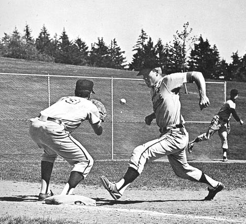 In baseball, the 1965 Pios compiled a final record of 14-13, finishing third in the Northwest Conference.