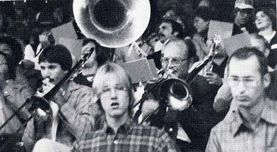 Alumni-Student Band plays at Homecoming