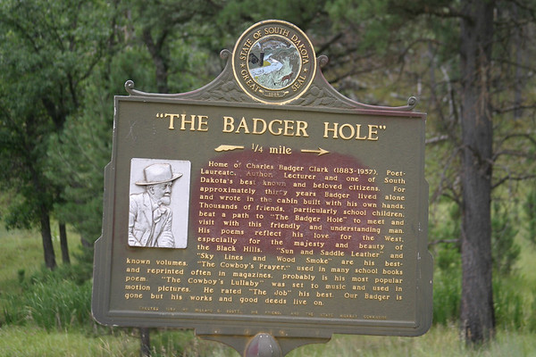 Badger Clark's Badger Hole, Custer State Park, S.D.: 8/05