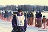 Jessie Royer and dogs leave Willow bound for Nome in Iditarod 2010.