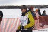 Pat Moon and dogs leave Willow bound for Nome in Iditarod 2010.