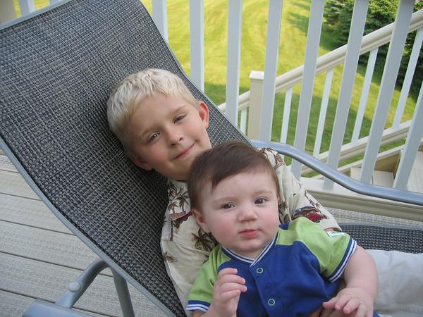 06.09.05 Zane 1/2 Birthday & Kids Outside