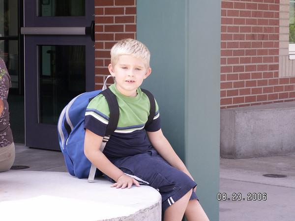 08.23.06 Matt's First Day of School