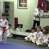 Zane testing from orange/black stripe to get his yellow belt.