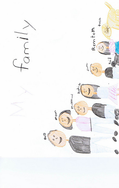 Kate Drawing of Family 1109