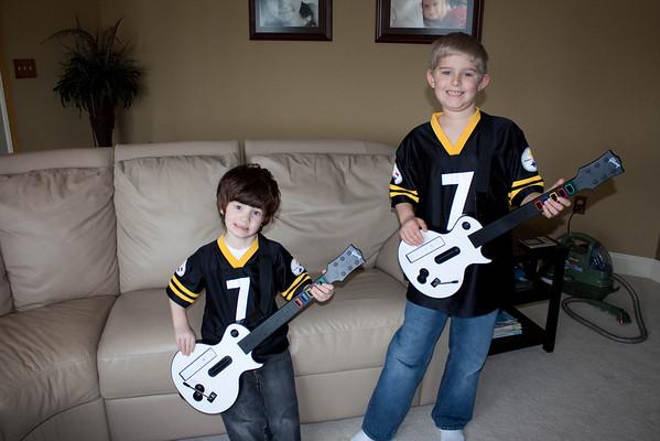 01.11.09 Matt and Zane Wii Guitar Hero
