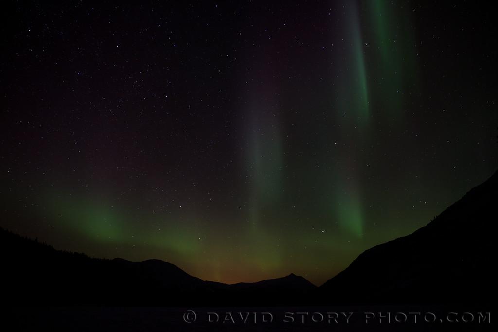 Aurora from Lower Russian Lake. Cooper Landing, AK.
