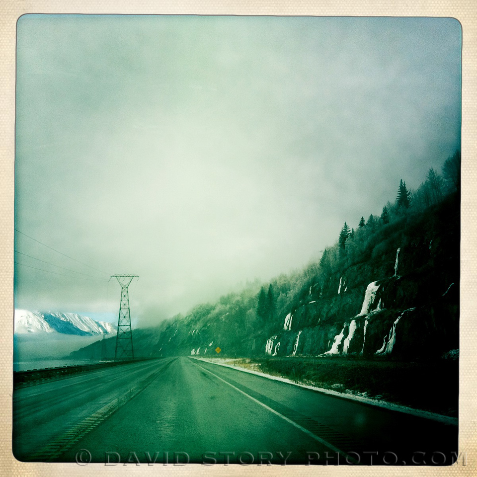 A glimpse of blue along the Seward Highway.