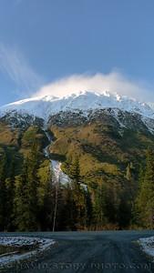 Snow on the mountain.