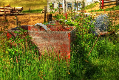 03 Aug 11. The advent of the HDR approach to photography has opened some new doors to image creation that were basically available only to painters and sketchers in previous generations. The use of the technique can range from very weird looking images (grunge) or to merely provide content where it wasn't available prior, such as the lavender field building I shared a few days back. All of the aspects of the approach have their appropriate use, and it is up to the photographer how best to employ the technique. In this image I have strayed a bit into the grunge side to take a rather mundane scene/subject and give it some life. No, it doesn't look exactly like this rendering in the original, but the original is nowhere near as interesting as is this creation, at least in my eyes. You could actually go see it for yourself as it sits on my cousin's farm, and I'm rather certain he wouldn't mind you taking a gander, but you might even walk right past it and not see it in as much as I did for a couple of years before recognizing its potential. ISO 200; 1/640 sec (middle of 5) @ f / 6.3