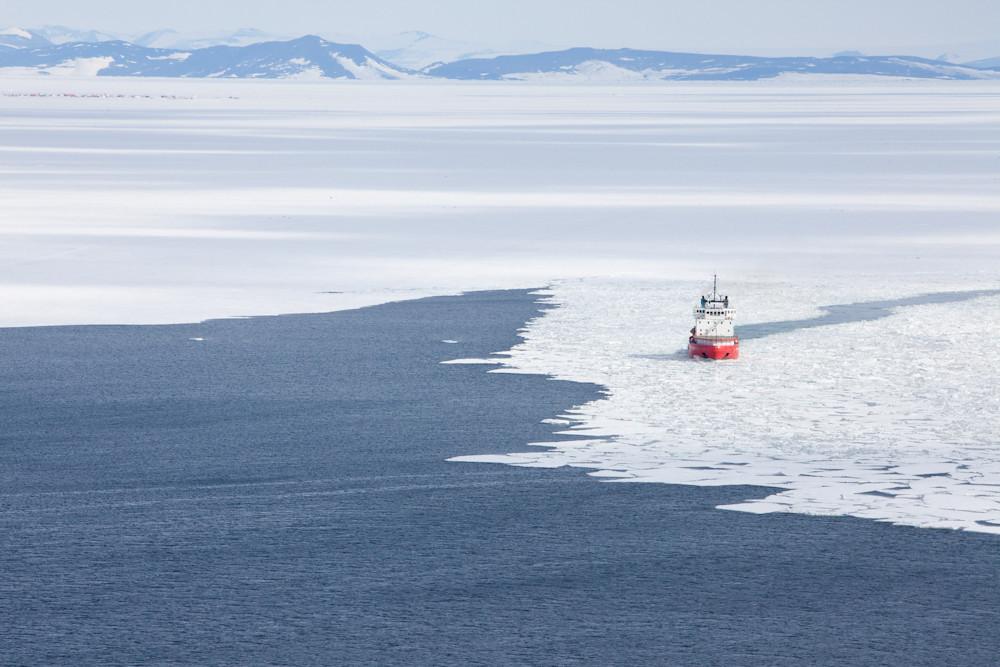 Pegasus behind the icebreaker.