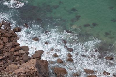 Waves over rocks. Cabo da Roca, Portugal.
