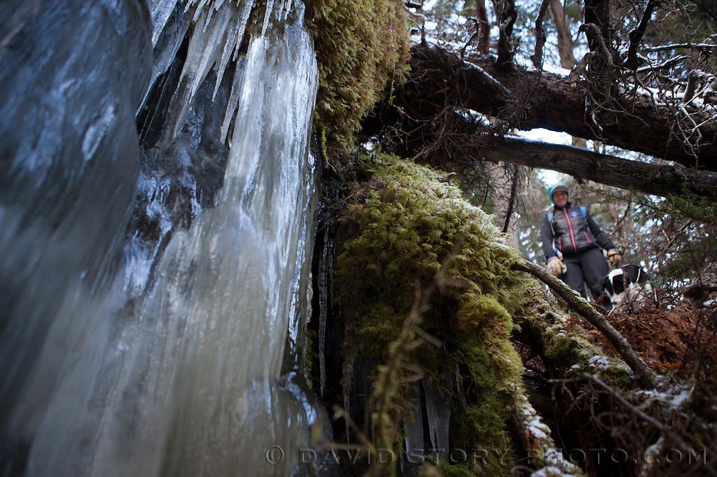 Icefalls near Falls Creek.