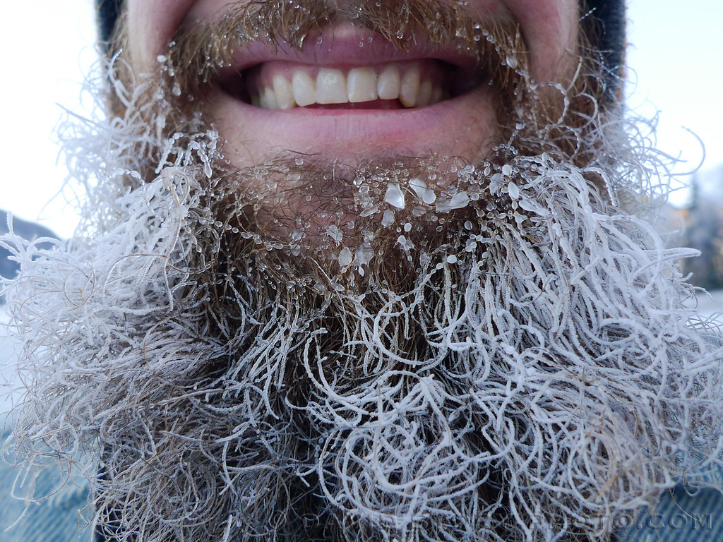 Frosty beards can't hold back smiles.