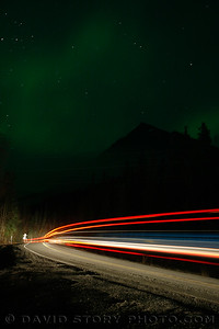 Trucking under the aurora