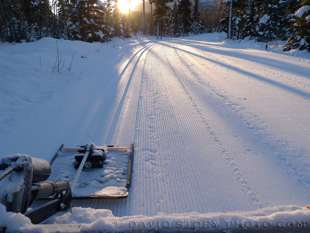 Setting the first classic tracks of the year at the Russian River Campground.