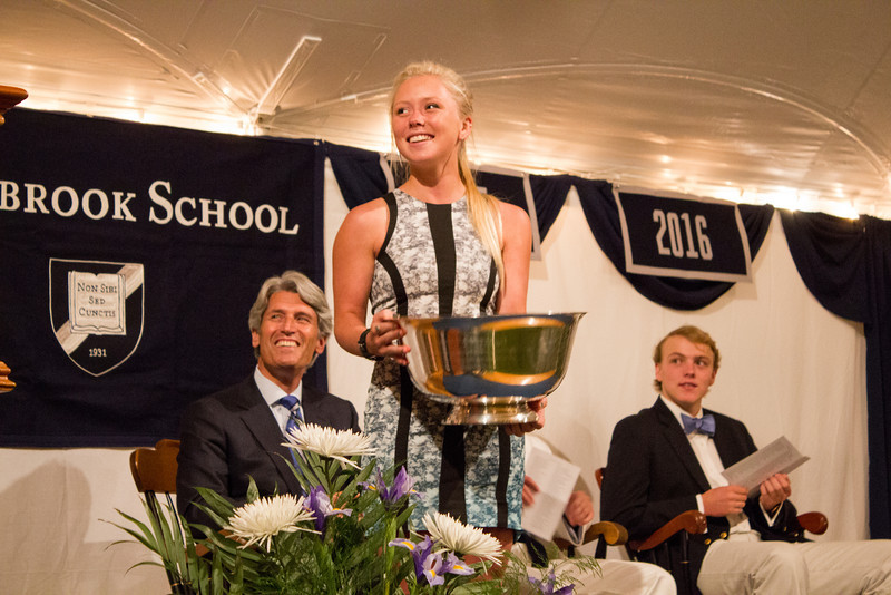 Lena Hardy '13, winner of the Nathaniel B. Abbott Cup