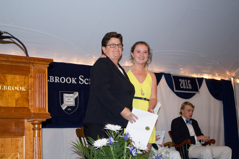 Cum Laude inductee Antonia Butwell '13 with advisor Karen Hansell