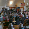 Bob Petermann <br /> Wibaux, Montana<br /> <br /> Full house at the Alzada Community Hall<br /> Alzada, Montana