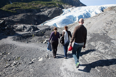 Walking further to Exit Glacier. Seward, AK.