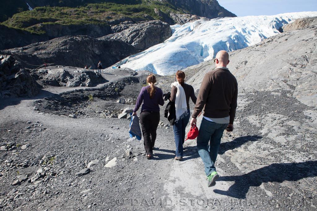 Walking further to Exit Glacier. Seward, AK.
