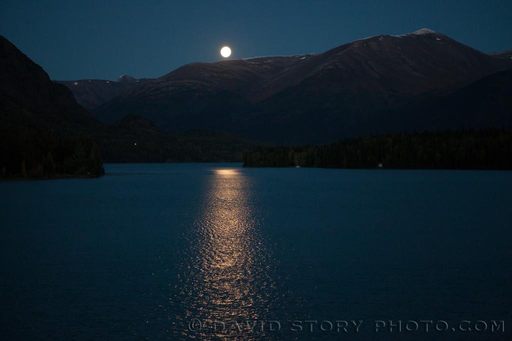 Moonrise over Cooper Landing, AK.