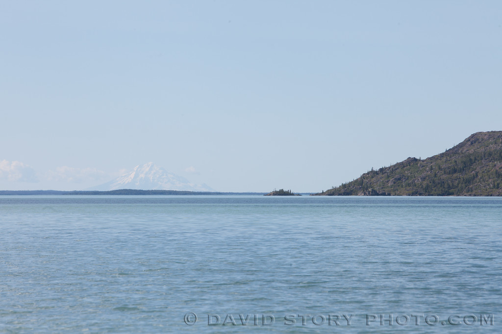 Mt. Redoubt from Skilak Lake, AK.