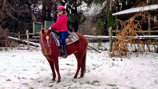12.01.13 Girls Horseback Riding in the Snow