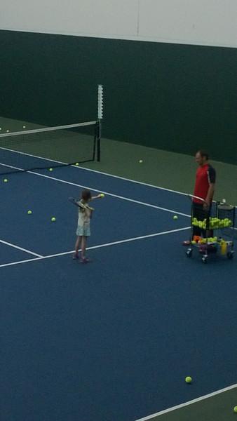 03.06.13 Remi 1st Tennis Lessons