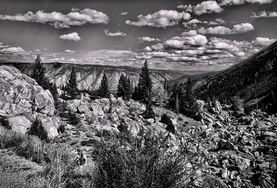 """19 Nov 13.  If anyone were to ask the general public as to who is considered the greatest photographer of all time, I'm rather certain that the answer would be Ansel Adams. At least that is the impression I get from the many photo clubs in which I've been a member. During my third tour in the Navy, stationed at China Lake, CA, I joined the local photo club to have something both interesting to do and as a way of learning about the countryside. During the first year I was mostly ignored - it was a club whose members had been so most of their lives and I was a """"foreigner"""" - by all but a small few. They were kind and took the time to point me to places I had never heard of and never would have had it not been for them. I also worked in a department that housed the base audio visual folks, one of whom, the dept head, took me under her wing and taught me the basics of good visual presentations (slide shows). With the help of those few individuals, plus my gradual acceptance by the photo club members, I was awarded the prize of photographer of the year my second and last year there, the award for which was a huge Ansel Adams anthology. It was a beautiful book, and I was most honored to have received it, but I gave it back to the club with my heart felt thanks with the idea that it would be put to better use if an entire photo club could appreciate it as opposed to just one member, me. I have often since looked to find a copy of that book to place in my library but have had no success in finding it. There are of course many places to look at his work, but none quite as nice as that anthology. If you are a fan of Adams you already know that one of the things that set his work apart, aside from his understanding of light, was the amount of detail in his images. His ability to extract the fine detail is something that amazes me considering what he had to work with during his lifetime. One can only imagine what the manipulative master would be capable of creating in today's di"""