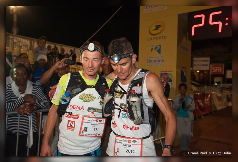 Antoine Guillon et David Pasquio arrivés ensemble, 4ème et 5ème du grand raid