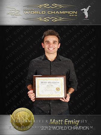 Matt Emig 2012 NASKA World Champion