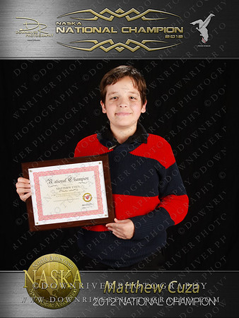 Matthew Cuza 2012 NASKA National Champion