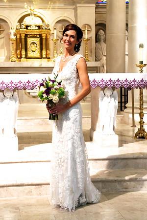 Wedding day for Rachel Lollar and Brad Spencer