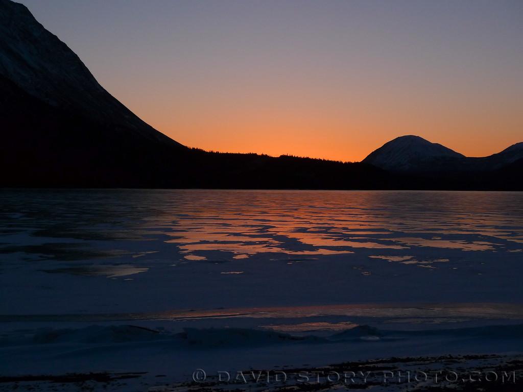 Sunset on Kenai Lake. Cooper Landing, AK.