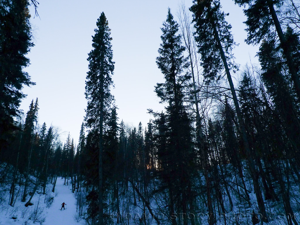 Steep skiing. Talkeetna, AK.