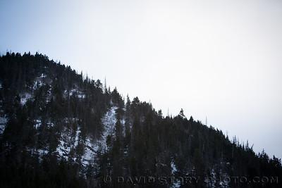 Ridgeline above Grant Lake.