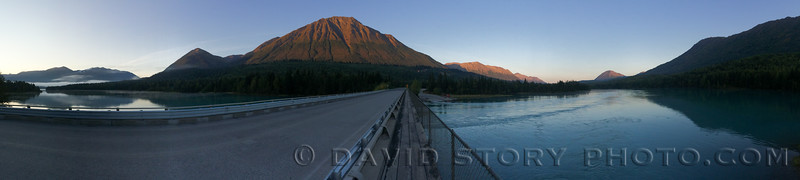 7 AM in Cooper Landing crossing the Kenai.