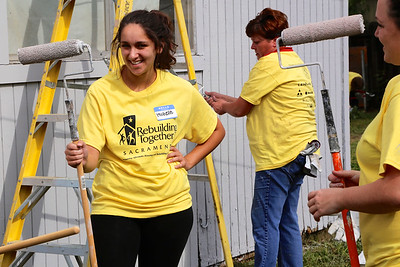 During Rebuild Day on April 25, 2015, the Brewer home in South Sacramento receives a complete makeover, sponsored by Teichert Construction and CFMA. (Photo by Joan Cusick)